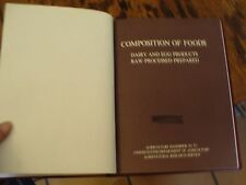 Composition of Foods Dairy & Egg Products USDA Handbook No 8-1 1976 Ex-library