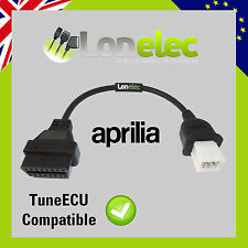 6 PIN TO 16 PIN ADAPTOR INTERFACE CABLE FOR APRILIA - TUNE ECU TUNEECU