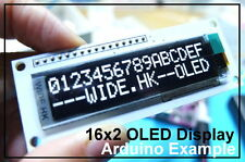 1602 OLED Display [Multi-interface support] SPI/8080/I2C - White Color
