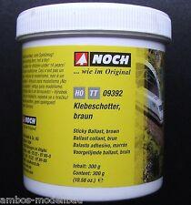(21,63€/kg) NOCH 09392 Klebeschotter braun, H0 - TT, 300 g, Neuware