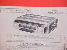 1958 DODGE CUSTOM ROYAL CONVERTIBLE CORONET DESOTO AM RADIO SERVICE SHOP MANUAL