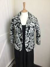 Ladies Day Birger & Mikelson Black & White Sparkly Jacket. Size 10. Ex Cond.