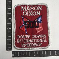 Vtg MASON-DIXON 500 Car Race DOVER DOWNS INTERNATIONAL SPEEDWAY Auto Patch C06L