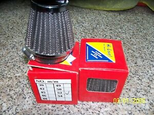 Universal air filter pair universal Chrome tapered air filters 52mm .