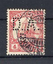 Kiautschou Firmenlochung Perfin Postmarked (A4285