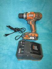 Ridgid R86008 Cordless Drill Driver Power Tool charger and 1 battery