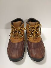 Polo Sport Ralph Lauren Mens Size 7 Brown Leather Moc Duck Shoes Boots