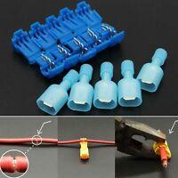 40p/Set T-Taps & Male Insulated Quik Splice Lock Wire Terminals Connectors Blue