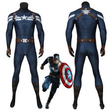Captain America Costume Cosplay Suit Steve Rogers The Winter Soldier 3D Printed