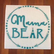 Mama Bear 2 Arrow Turquoise Car Sticker Decal family kids proud mom cubs *D26*
