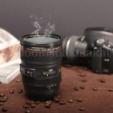 Black Camera Lens Cup 24-105mm Coffee Beer Tea Water Travel Funny Mug Gift 450ml