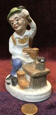 Flambro Shoe Cobbler Porcelain Figurine, Hand Painted