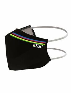 Official UCI 2020 Cycling World Championships Face Mask in Black by Santini