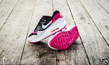 W Nike Air Max 1 De Impresión Negro Blanco Rosa Fireberry entrenadores Size UK 8 Nuevo (_ 7)