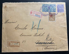 1902 Cartagena Colombia Registered Cover To Zurich Switzerland Via New York
