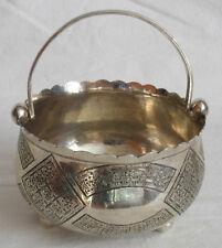 Armenian Middle Eastern Silver Sugar Bowl Mamluk revival style .84 silver nice