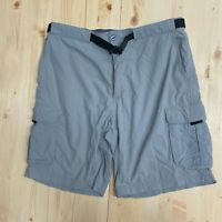 Men's EMS Eastern Mountain Sports Hiking Belted Cargo Shorts Size 34 Nylon