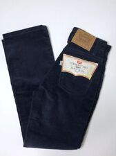 Vintage Levi's 10 Straight Leg Blue Corduroy Pants Boys Slim Fit White Tab NWT