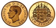1937 New Zealand NZ Golden Alloy Crown Edward VIII Pattern Coin Proof  X# 13a