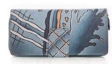 Grosse Damen Geldbörse Geldbeutel Büffel Leder Greenland Art + Craft Neu OVP