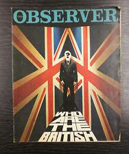 Observer Magazine: Who are the British? Trog Cartoon, 12th February 1967