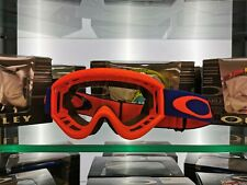 OAKLEY 'L' FRAME MX GOGGLE (FLO ORANGE/BLUE) CLEAR LENS