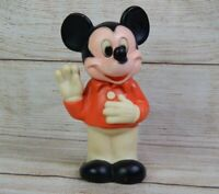 "Vintage 1978 Mickey Mouse Figure Rubber Squeeze Toy Gabriel 6.5"" Disney Figure"
