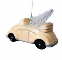 Kurt Adler Car Ornament Retro Vintage Style Glass Pink Auto Christmas Auto