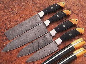 Eye Catching CUSTOM MADE DAMASCUS BLADE 4Pcs. CHEF/KITCHEN KNIVES SET DB 1011-4