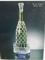 Royal Limited Crystal Wine Accessory Coaster Bottle Stopper Beaded Sleeve glass
