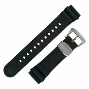 Genuine SEIKO Prospex R02F011J0 Black Rubber Band Strap + Pins SRP Turtle Watch