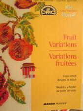 DMC Fruit Variations Cross Stitch Booklet-100 Designs- Mushrooms/Tropical/Figs