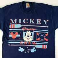 Vtg Disney Mickey Mouse Unlimited Classics Crew Rowing T-Shirt XL SINGLE STITCH