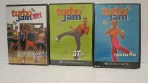 NEW Turbo Jam - 3 DVD Lot - Booty Sculpt + Abs 3T Totally Turbo Punch Kick Jam