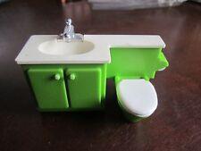 Vintage Fisher Price Dollhouse Doll house 253 Bathroom 1978-1984 sink toilet