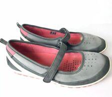 Ecco 10 Gray Suede Mary Jane Slip On Flats Blom $100