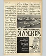 1971 Paper Ad Boat Revel Craft Key Largo Fiberglass Miamarina Slips Simex