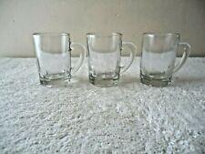 "Vintage Lot Of 3 Glass Beer Mug Shaped Shot Glasses "" Great Collectible Lot """