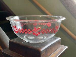 HTF Vintage Cherry & Checkered Pyrex 323 Mixing Bowl RARE