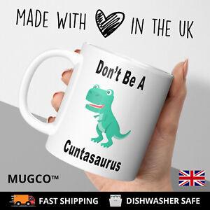 SwearingCunt Dinosaur Work Rude Adult Funny Gift Tea Coffee Mug Cup Birthday