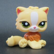 Littlest Pet Shop Animals Collection LPS Toys Persian Brown Yellow Hair Cat