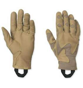 NEW Outdoor Research Overlord Short Tactical Gloves TAN Leather FR Nomex Massif