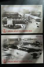 Turkey MNH 2019 / 2020 pre paid cards / Stationary birds tram, Ankara Istanbul