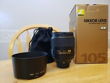 Nikon NIKKOR AF-S 105-105mm F/1.4 E ED Lens MIN CONDITION in the box, GREAT LENS