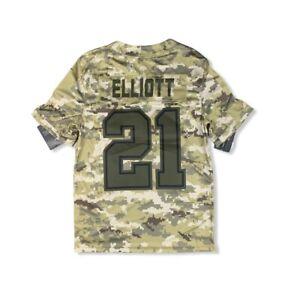 Nike Dallas Cowboys Ezekiel Elliott Salute to Service Jersey Camo Size Large
