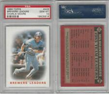 1986 Topps Baseball, #426 Brewers Leaders, Charlie Moore, PSA 10 Gem