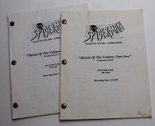 Spiderman * 1995 Original TV Scripts, AUTOGRAPHED BY CAST * Stan Lee, Part 1 & 2
