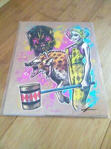 BAM! Harley Quinn Birds of Prey 8x10 Art Print #406/2000 Signed by Artist COA