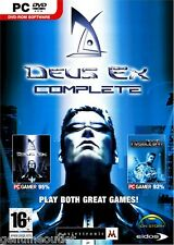 DEUS EX and DEUS INVISIBLE WAR COMPLETE EDITION for PC SEALED NEW