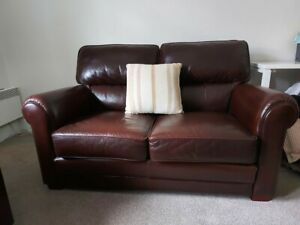 Moran (Brown) Leather Couches in excellent condition
